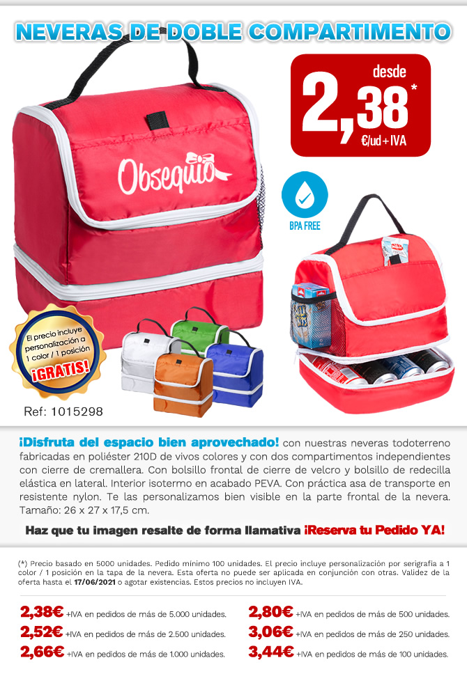 Oferta en neveras de doble compartimento.