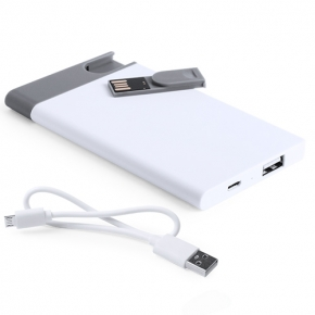 Power Bank con memoria USB de 2.500 mAh