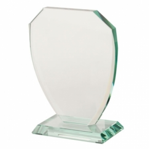 Placa de cristal  con base mediana
