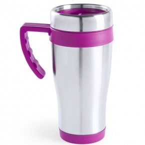 Vaso de acero inoxidable con mango 500 ml