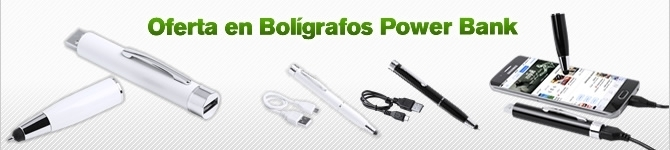 Oferta en Bolígrafos con Power Bank de 650 mAh