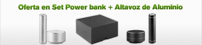 Oferta en set powerbank + altavoz