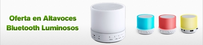 Oferta en Altavoces bluetooth luminosos